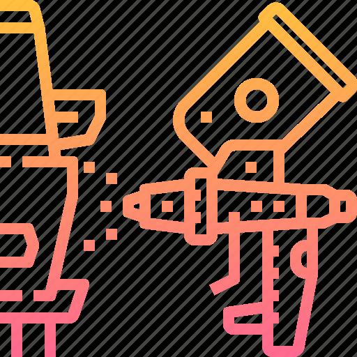 automobile, car, garage, motor, paint, repairing, spray icon