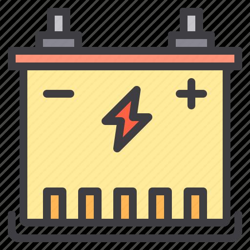 battery, car, maintenance, service icon