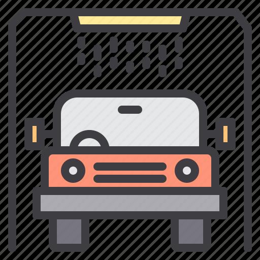car, maintenance, service, wash icon