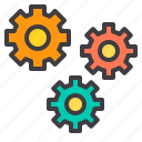car, gears, maintenance, service icon