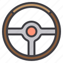 car, maintenance, service, steering, wheel icon