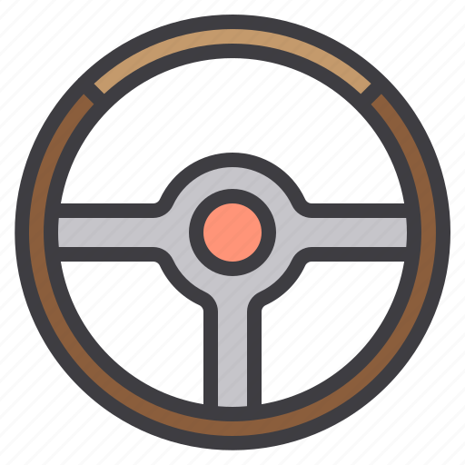 car, maintenance, service, steering, wheel icon