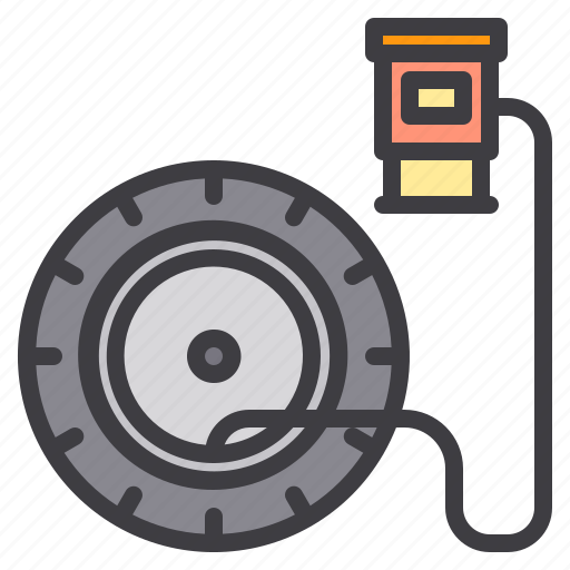 car, maintenance, service, tire icon