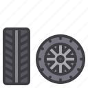 car, maintenance, service, tire, wheel icon