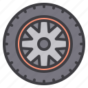 car, maintenance, service, wheel icon