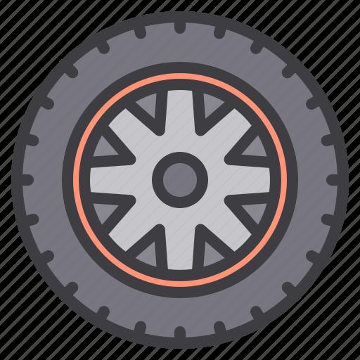 Wheel, car, maintenance, service icon