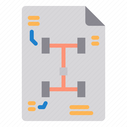 car, document, maintenance, service icon
