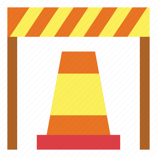 cone, construction, improvement, tools, traffic icon