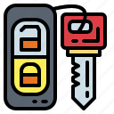 access, car, control, key, remote, security icon