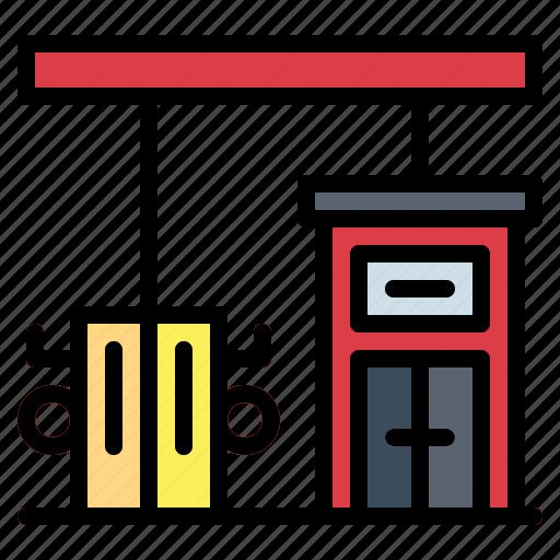 fuel, gas, gasoline, petrol, station icon