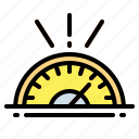 car, measuring, speedometer, velocity icon