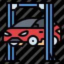 car, garage, reparation, service, suspension