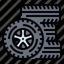 car, service, tire, wheel