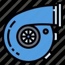 service, engine, power, turbo, car icon