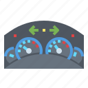 car, dashboard icon