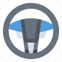car, driving, racing, steering, wheel icon
