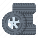 car, service, tire, wheel icon