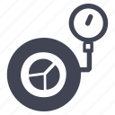 car, pressure, tire, transportation, vehicle, wheel icon