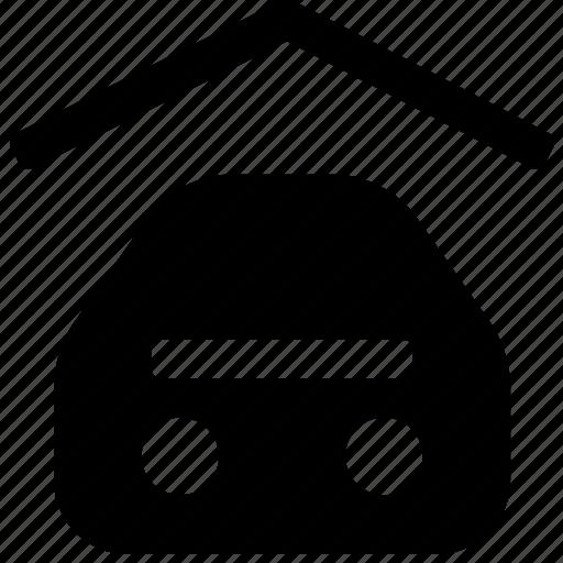 car, garage, lot, parking, space, storage, vehicle icon