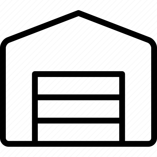 building, car, door, garage, repairs, storage icon