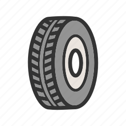 car, rubber, tyre, tyres, vehicle, wheel icon