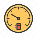 consumption, fuel, gas, gasoline, gauge, petrol