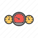 auto, car, driving, meter, panel, speedometer icon