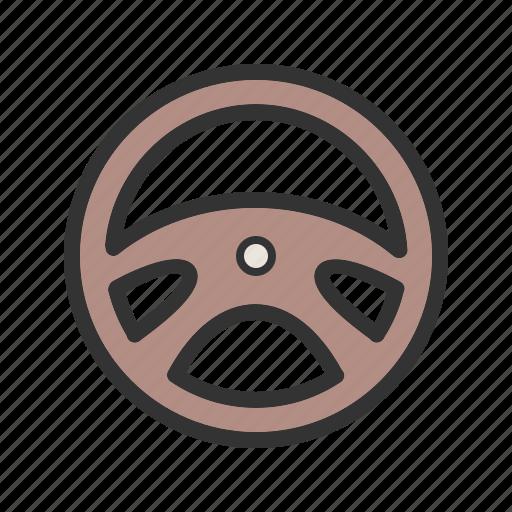 auto, automobile, car, control, object, steering, wheel icon