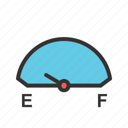 consumption, fuel, gas, gasoline, gauge, petrol icon