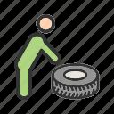 alloy, car, puncture, repair, tool, tyre, wheel