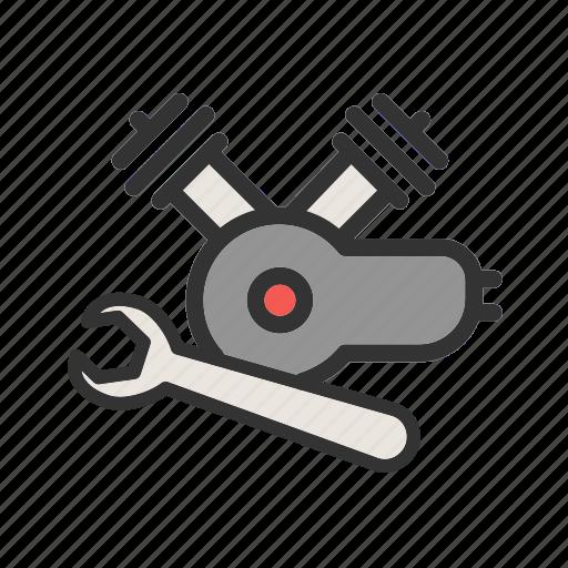 auto, automobile, car, engine, motor, parts, repair icon