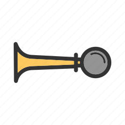 car, driver, hand, horn, loud, traffic, vehicle icon