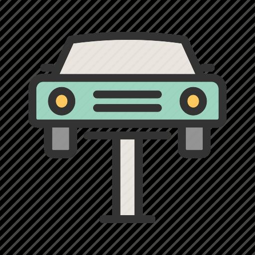automotive, car, cars, industry, jack, lift, mechanic icon