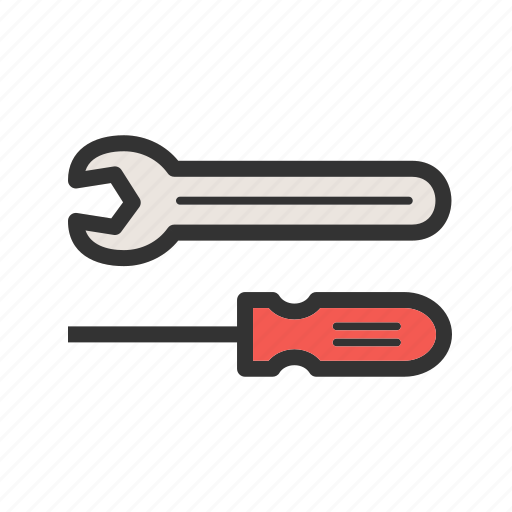 mechanic, repair, screwdriver, spanner, tools, work, wrench icon