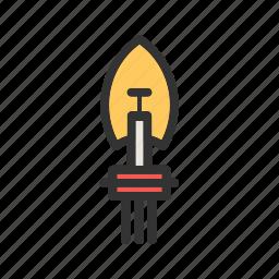 bulb, car, headlamp, headlight, led, light, lights icon