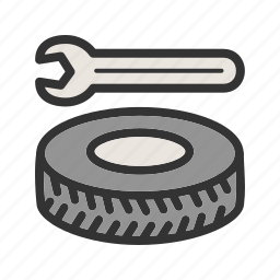 alloy, car, repair, service, tool, tyre, wheel icon