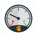 consumption, fuel, gas, gasoline, gauge, petrol icon