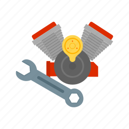 auto, automobile, car, engine, motor, parts, repair icon