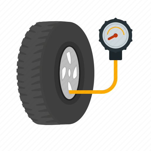 car, check, checking, inspection, pressure, tyre, tyres icon