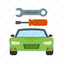auto, automotive, car, mechanic, repair, service, shop icon