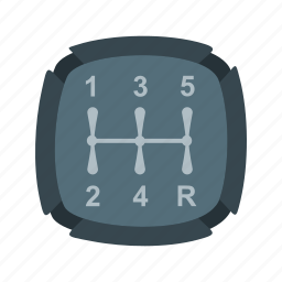 automatic, car, gear, manual, shifter, stick, transmission icon
