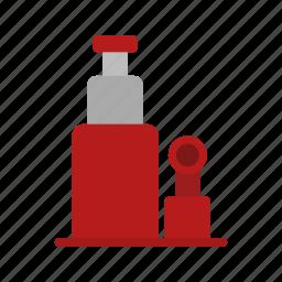 automotive, car, equipment, jack, metal, repair, work icon