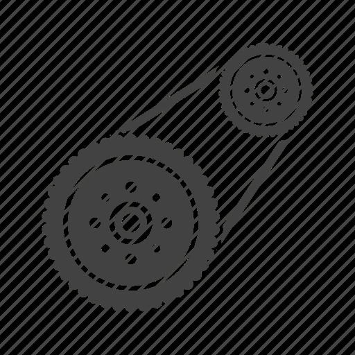 automotive, car, engine, flywheel, plate, power, steel icon