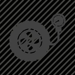 maintenance, pressure, repair, shop, tire, tyre, wheel icon