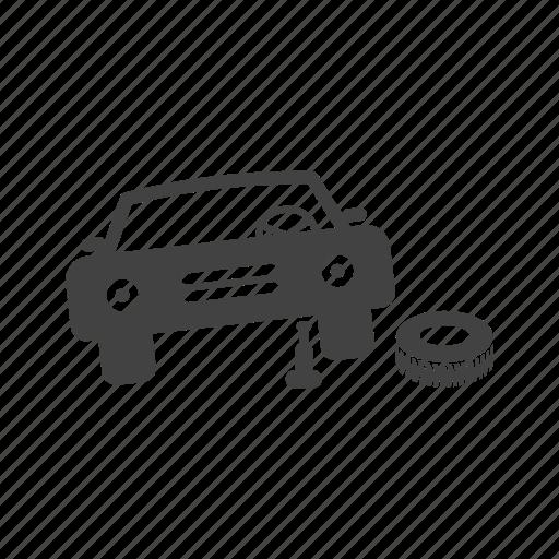 car, change, jack, mechanic, repair, tyre, wheel icon