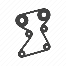 belt, belts, car, engine, rubber, timing, vehicle icon