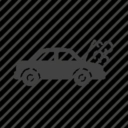 car, engine, exhaust, fume, machine, smoke icon