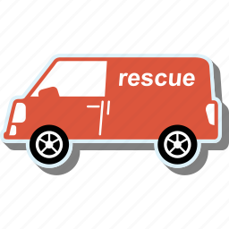 car, rescue, transport, transportation, van, vehicle icon