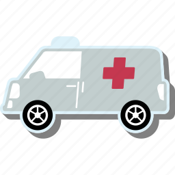 ambulance, car, transport, transportation, vehicle icon