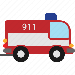 car, firefighters, transport, transportation, vehicle icon